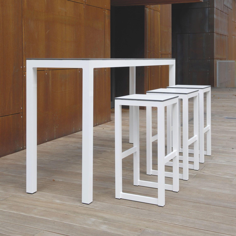 contemporary high bar table  hpl  aluminum  rectangular  - contemporary high bar table  hpl  aluminum  rectangular leuven todus