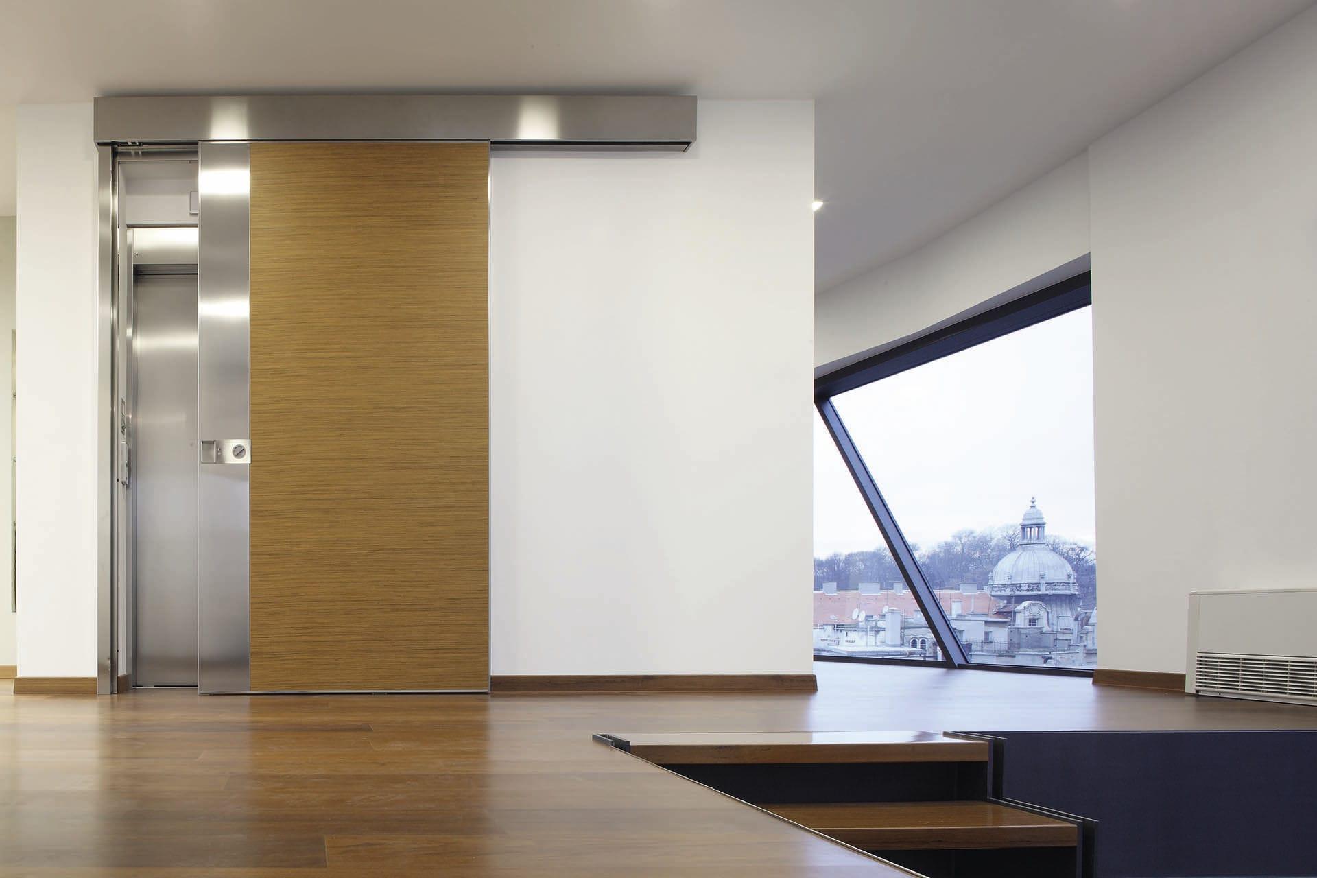 Entry Door Sliding Metal Acoustic Vela Oikos Venezia