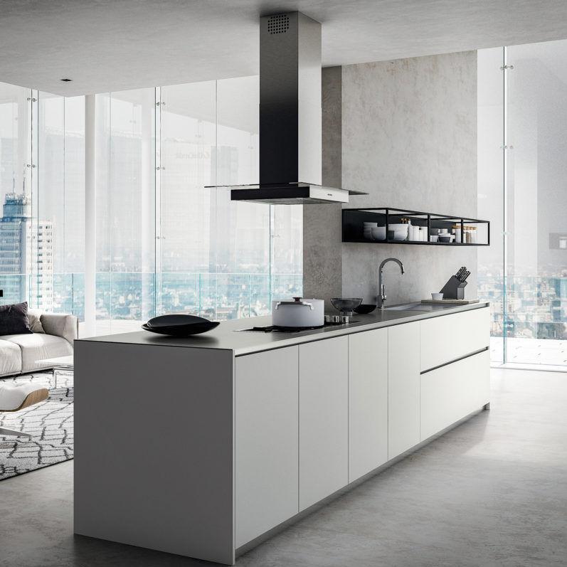 Contemporary Kitchen / Melamine / Island / Lacquered   OMICRON 22 :  COMPOSIZION 03