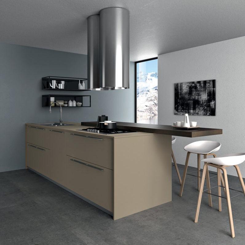 Contemporary Kitchen / Laminate / Island / Lacquered   TAU : COMPOSITION 03