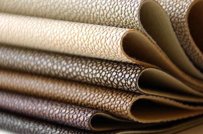 Synthetic Upholstery Leather Plain Stingray Joseph Noble Textiles
