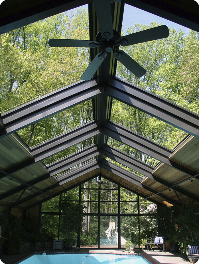 Lovely Metal Skylight / Retractable
