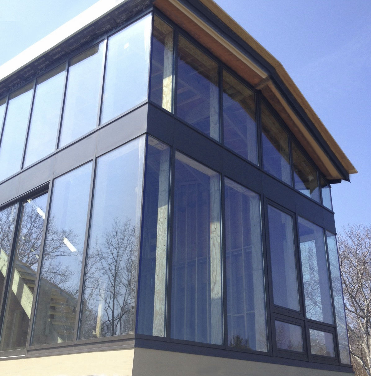 Stick system curtain wall / aluminum and glass - SI5000 - Solar ...