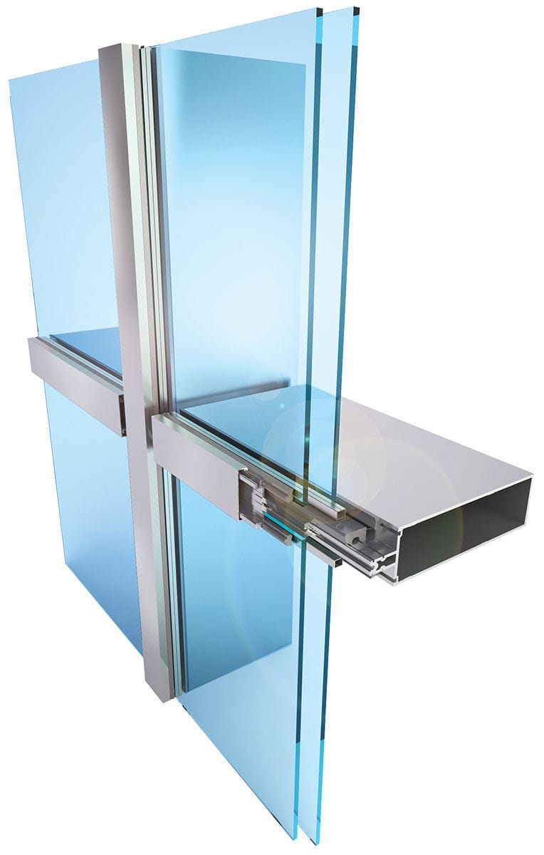 Glass curtain wall -  Structural Glass Curtain Wall Insulated Glass Panel Aluminum And Glass High Resistance
