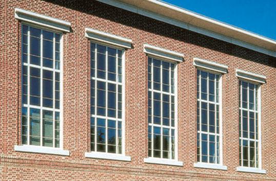 Sash window / aluminum / thermal break / for commercial buildings ...
