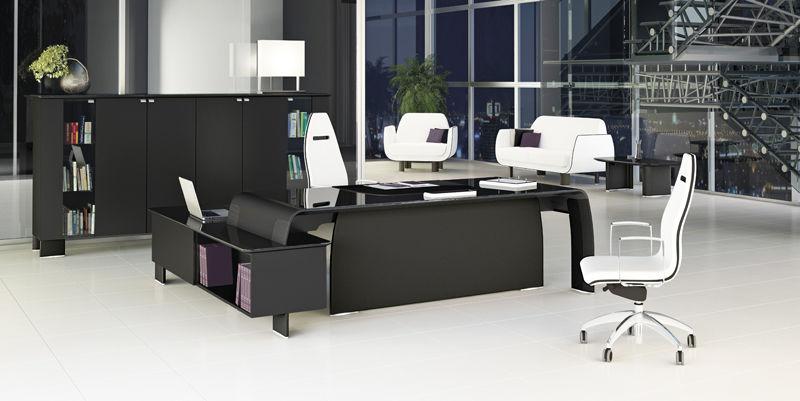 Executive Desk Laminate Contemporary Commercial Alfaomega