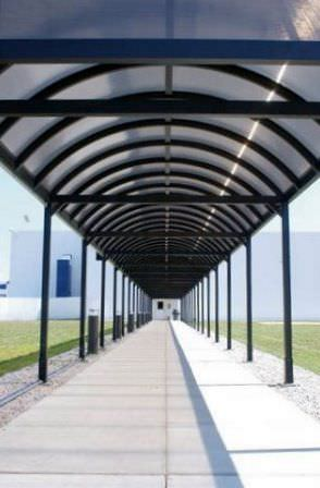 ... Exterior Staircase Canopy / Polycarbonate / Aluminum / Commercial