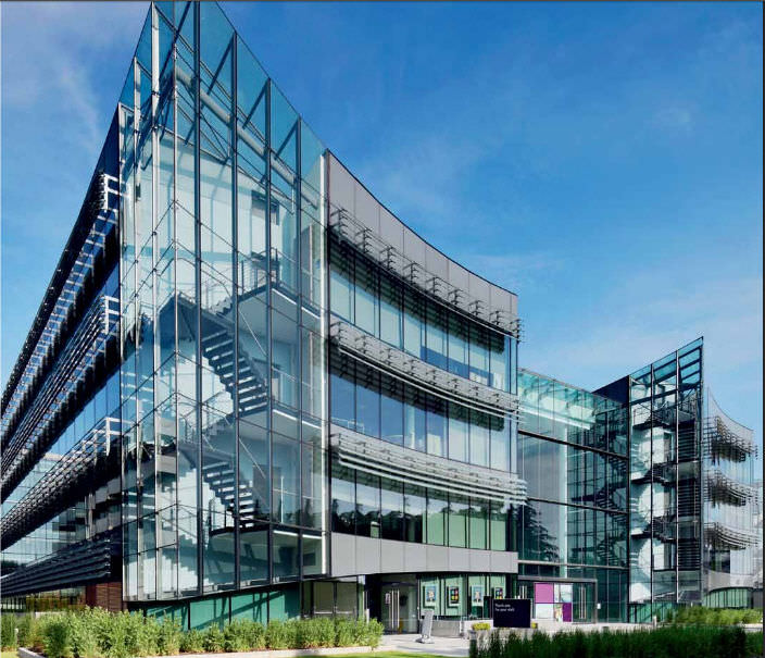 panel curtain wall metal and glass allied irish banks