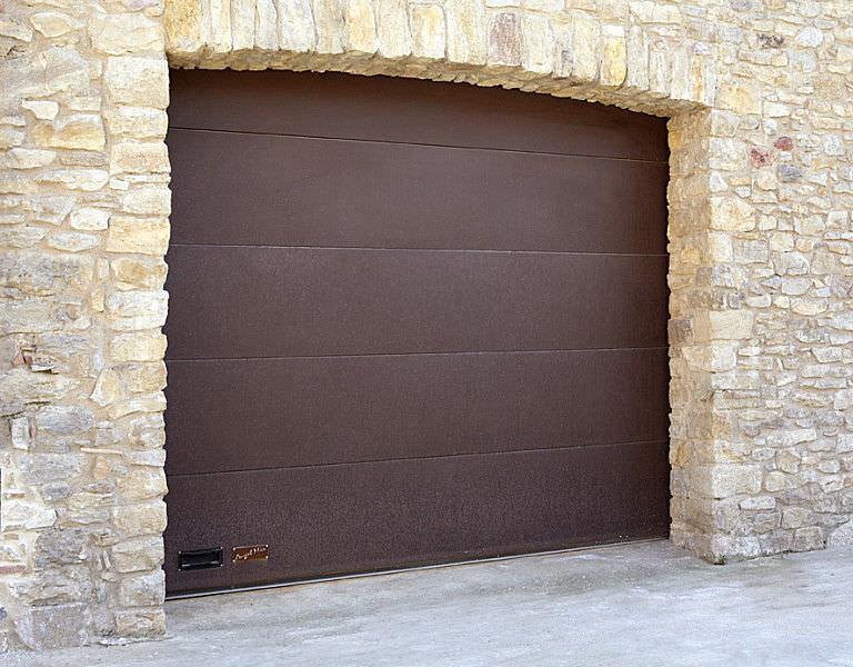 ... Sectional Garage Door / COR TEN® Steel / Aluminum / Automatic ...