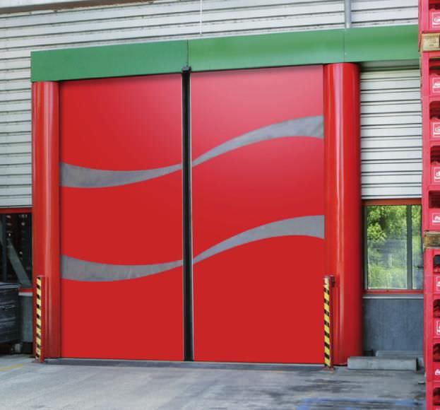 Sliding Industrial Door / Stainless Steel / Acoustic / For The Food  Industry   NOVOSPRINT