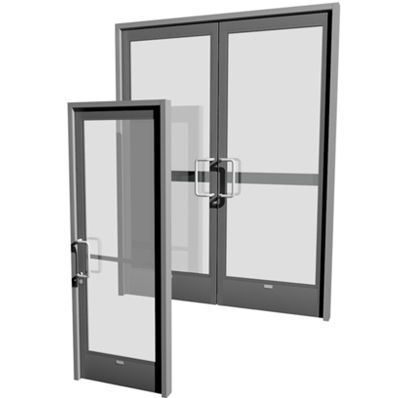 Entry Door Swing Aluminum For Public Buildings NS SERIES - Porte aluminium