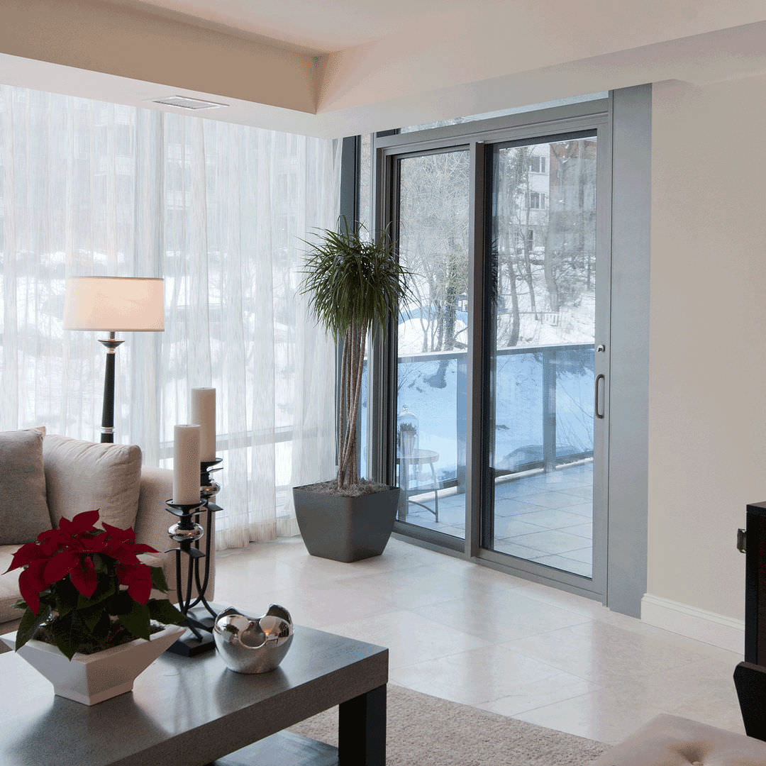 Sliding Patio Door / Aluminum / Double Glazed   5500HPT SERIES