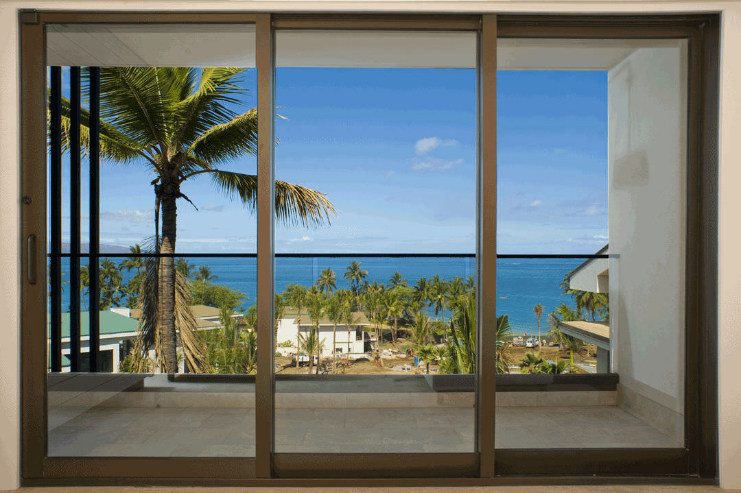 Sliding Patio Door / Aluminum / Double Glazed / Thermal Break 5520 SERIES  Arcadia Group ...