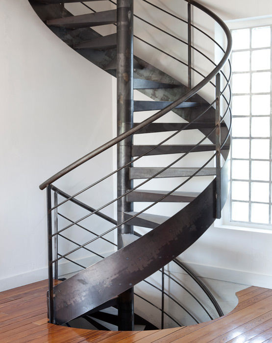 Spiral Staircase Metal Frame Metal Steps Without Risers S26