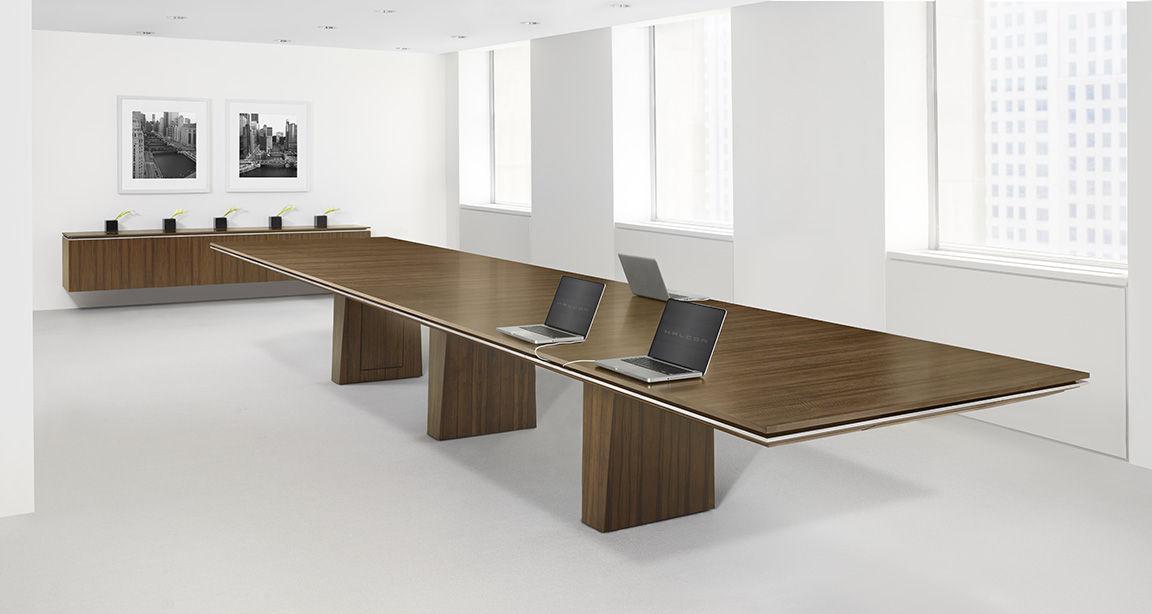 Contemporary Boardroom Table Wooden Rectangular With Storage - Wooden boardroom table