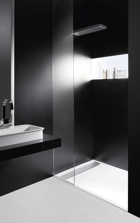 Rectangular Shower Base / Acrylic / With Channel Drain / Flush   ZERMATT