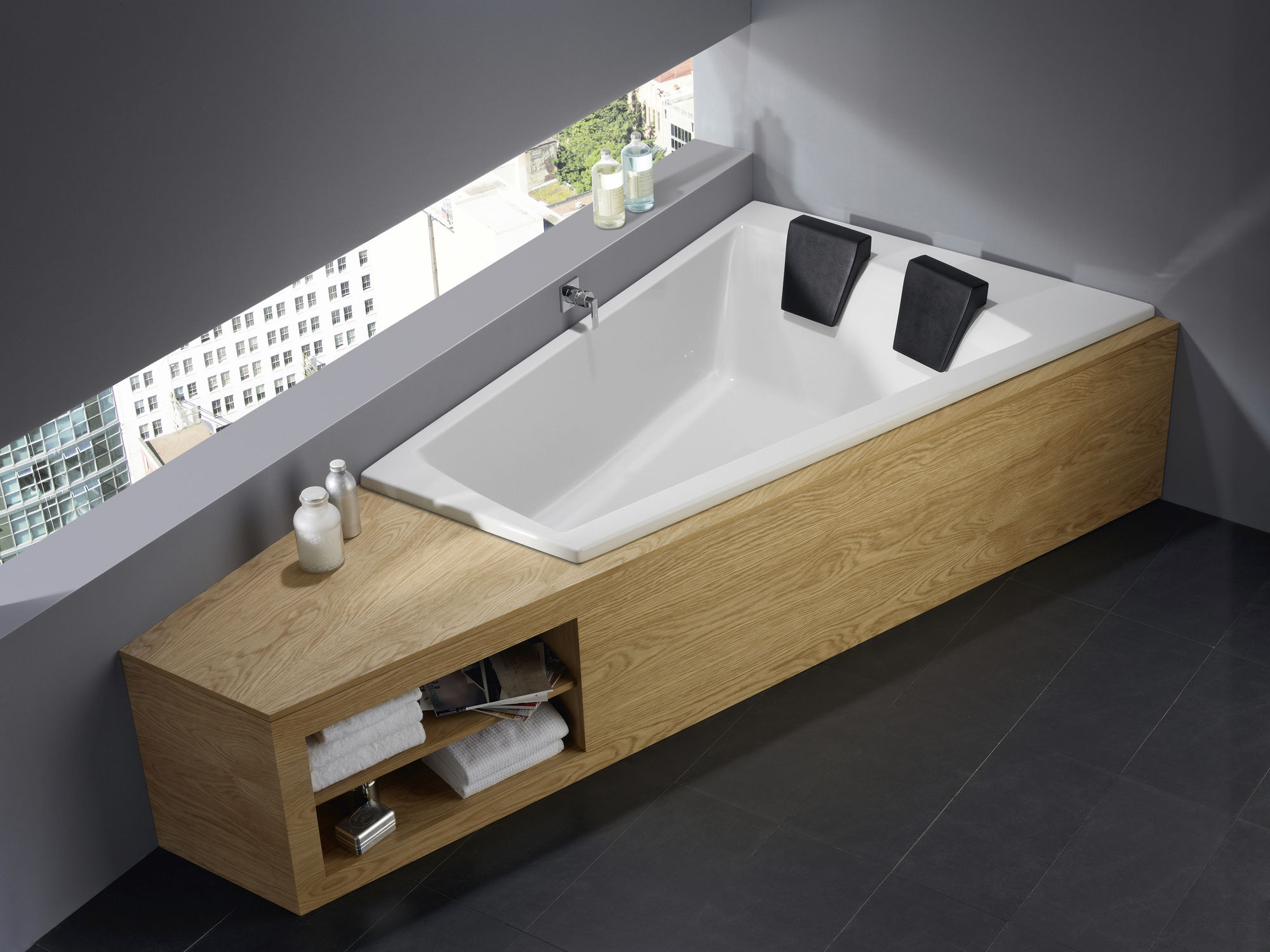 Tub For Two Part - 35: Built-in Bathtub / Corner / Acrylic - GENF DUO 170/180