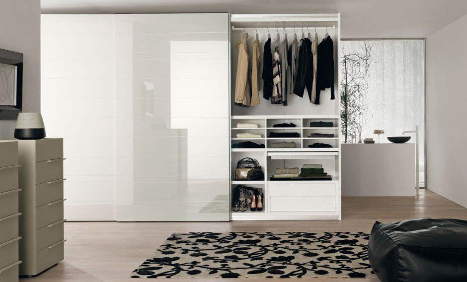 Contemporary Wardrobe Glass Sliding Door India 4243 Orme