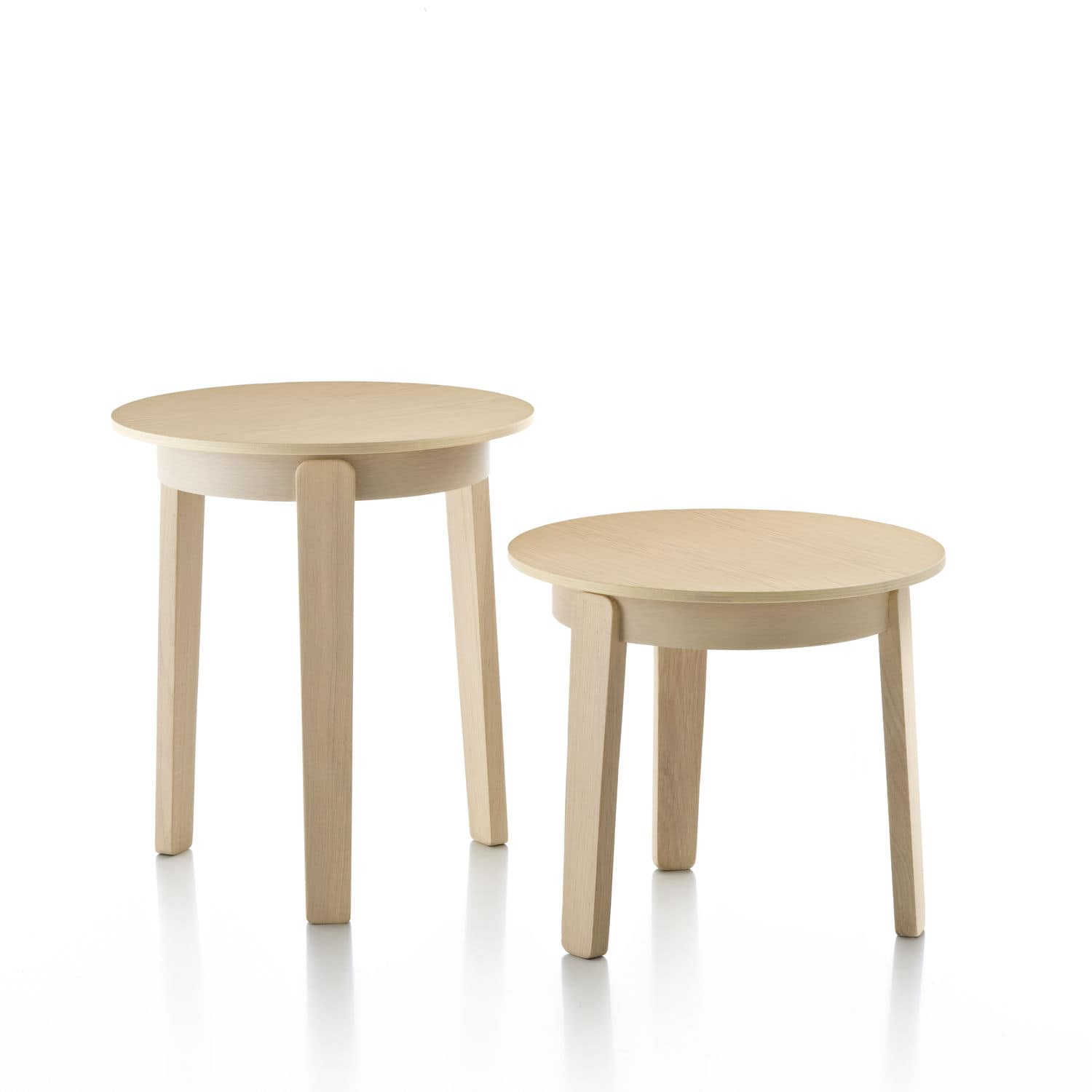 Scandinavian design side table oak round mercial