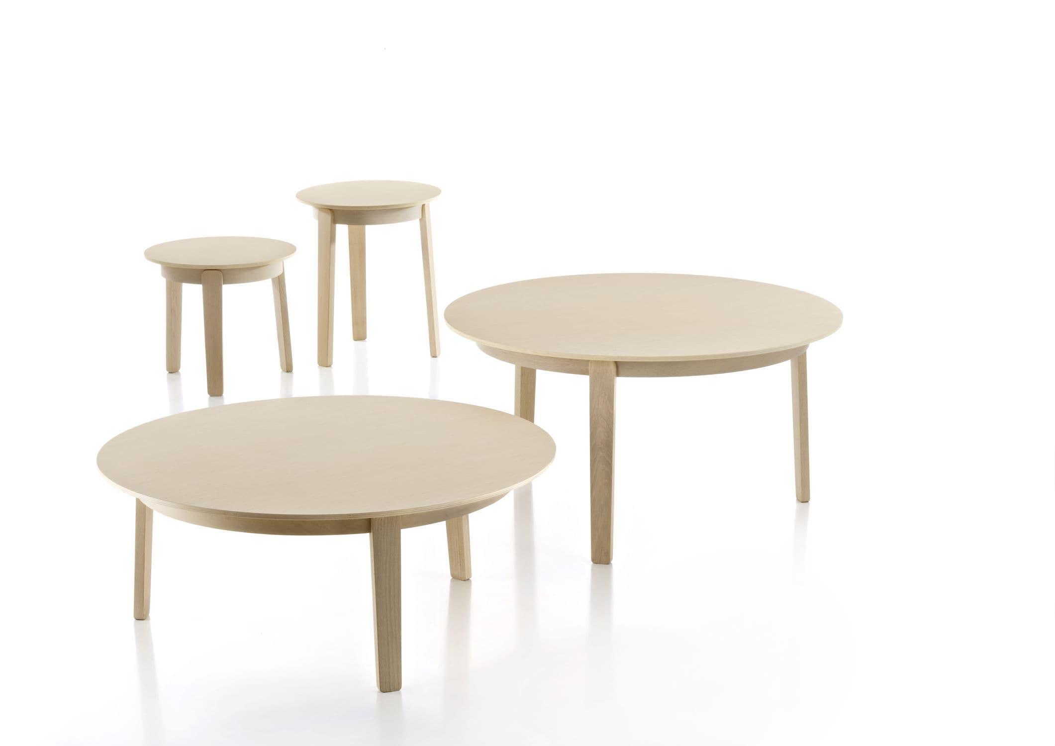 Scandinavian design side table oak round mercial