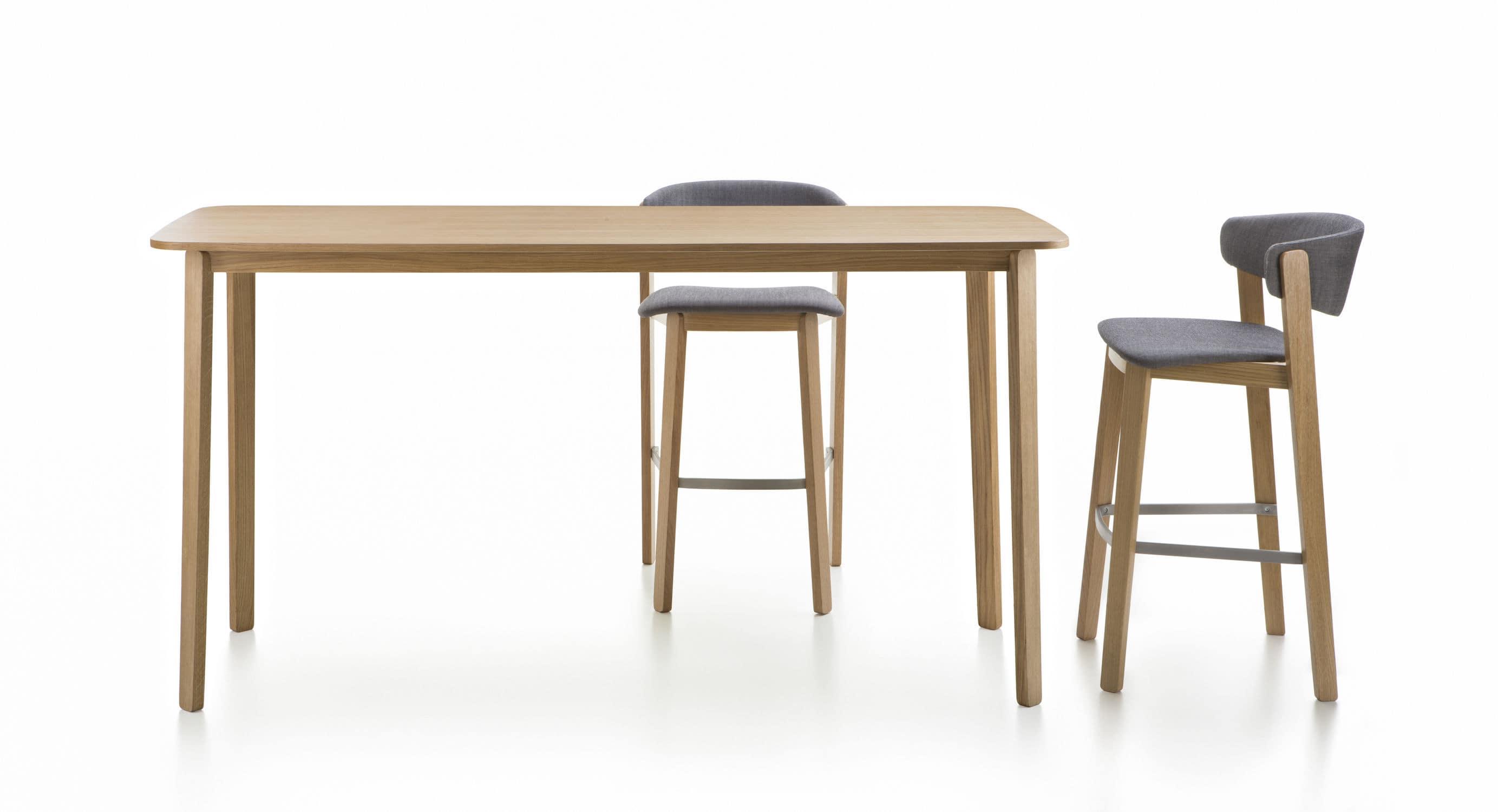 Scandinavian design bar chair wooden mercial by Luca