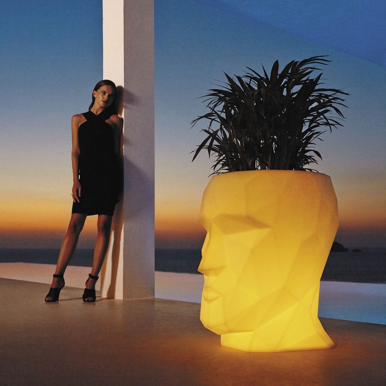 Polyethylene garden pot / illuminated - ADAN by Teresa Sapey ...
