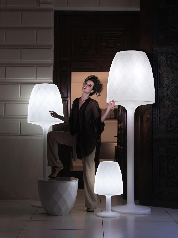 floor standing lamp contemporary polyethylene outdoor vases