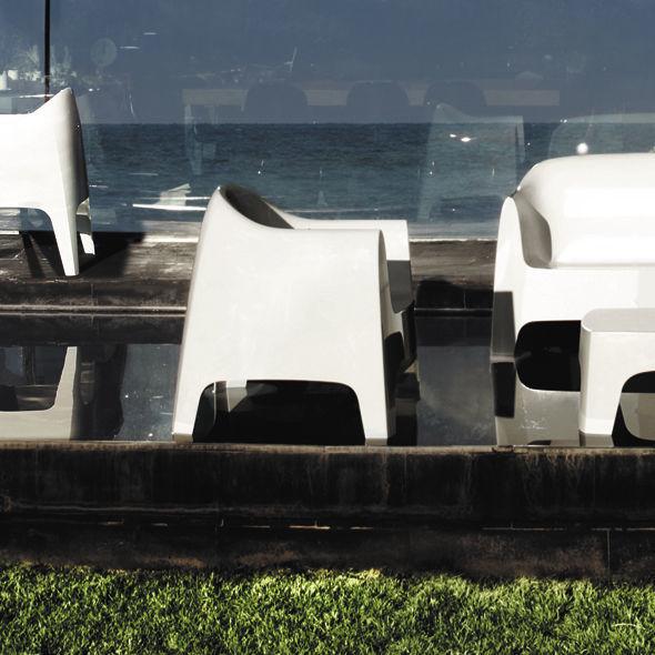 Contemporary armchair / polypropylene / stackable / garden - SOLID ...