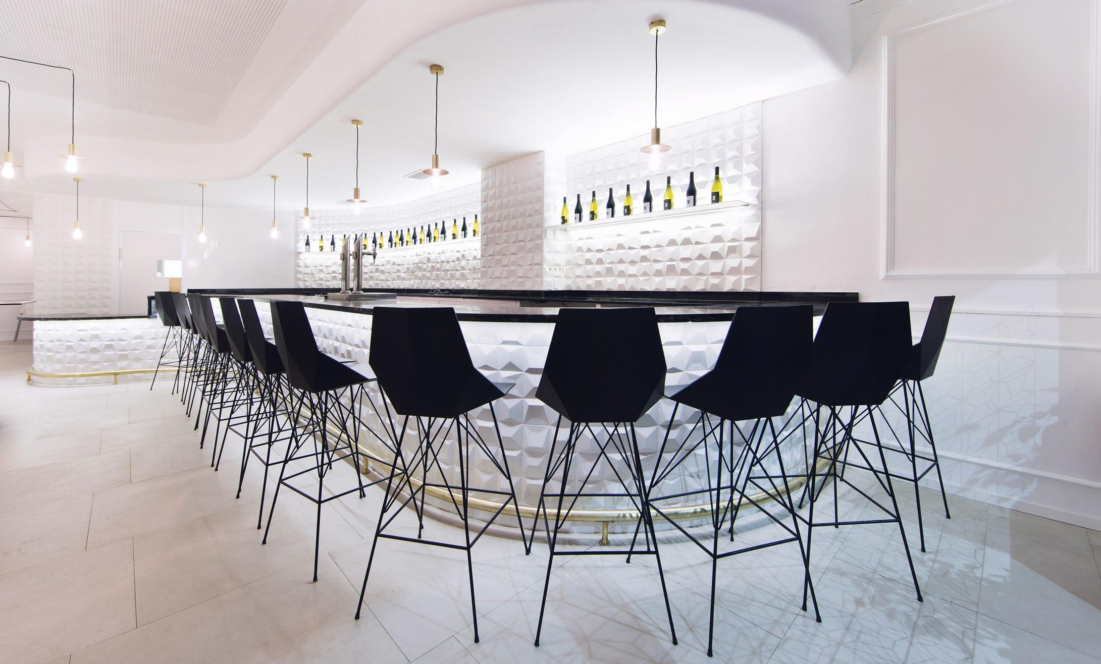 contemporary bar chair / stainless steel / garden - fazramón
