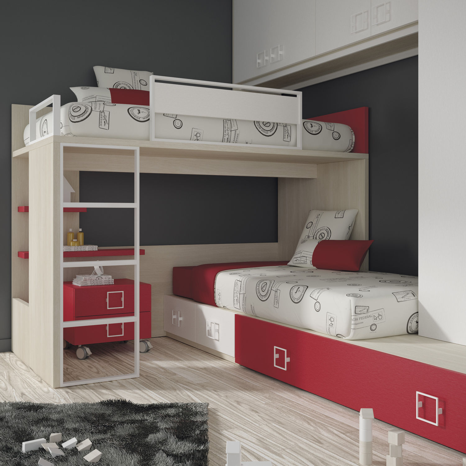 corner bunk bed single with shelf touch 46 ros 1 sa