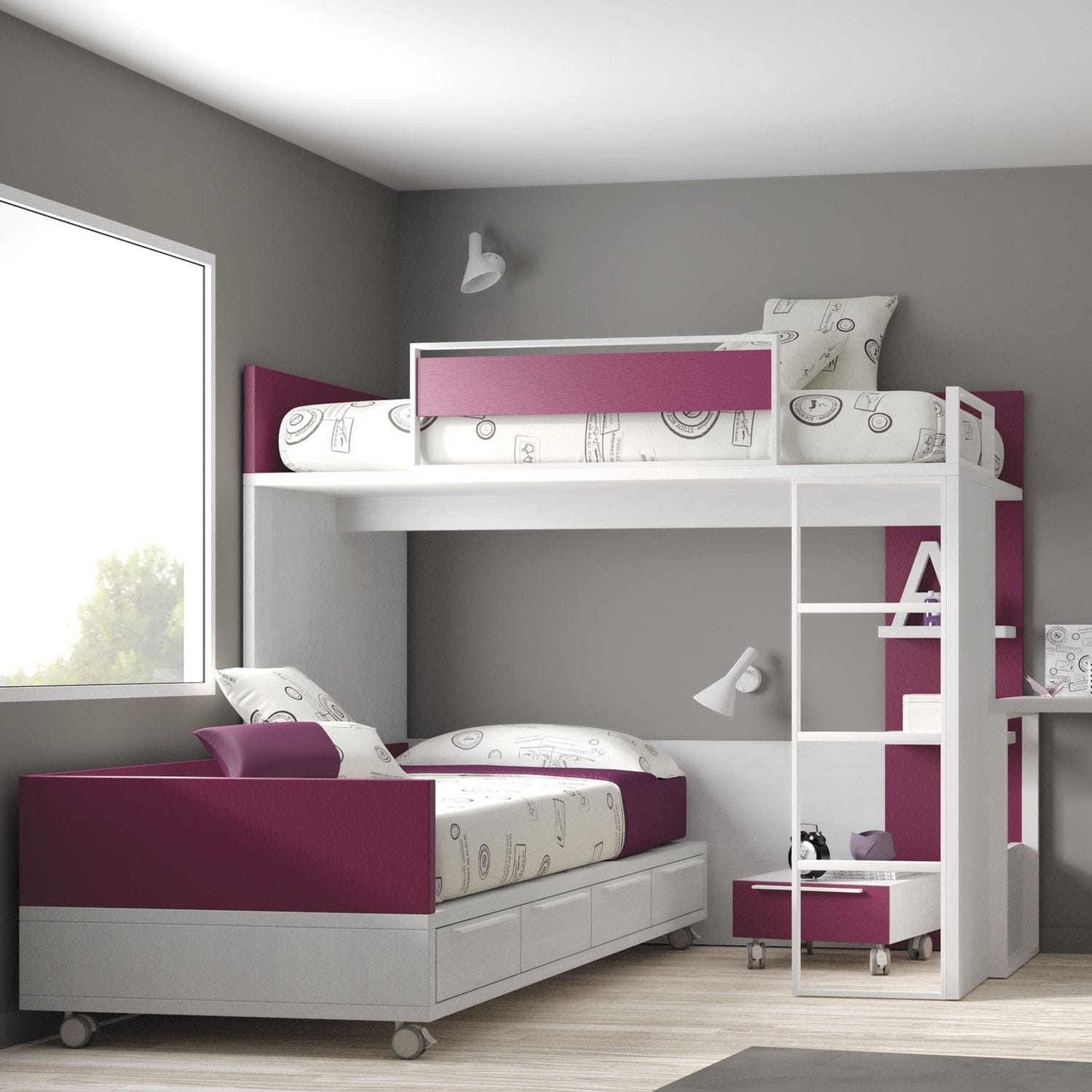corner bunk bed single contemporary child\u0027s touch 61 ros 1corner bunk bed single contemporary child\u0027s touch 61