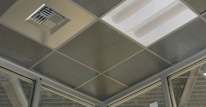Metal Suspended Ceiling Panel Wire Metalscapes Chicago