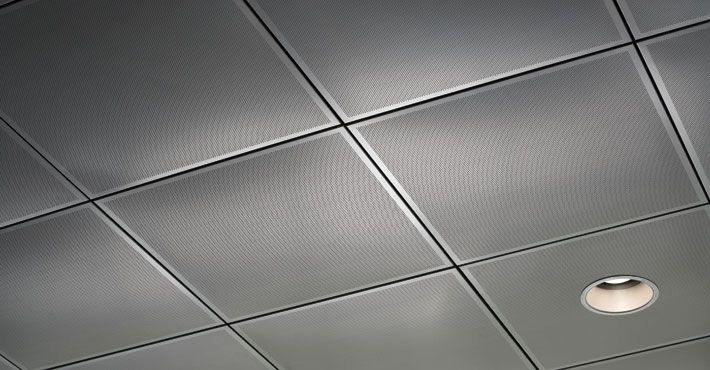 Metal Suspended Ceiling Panel Wire Spanair Clip In Chicago Metallic Corporation