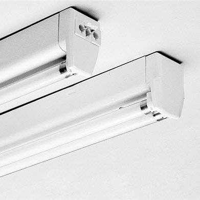Hanging Light Fixture Surface Mounted Fluorescent Linear - Basic light fixture