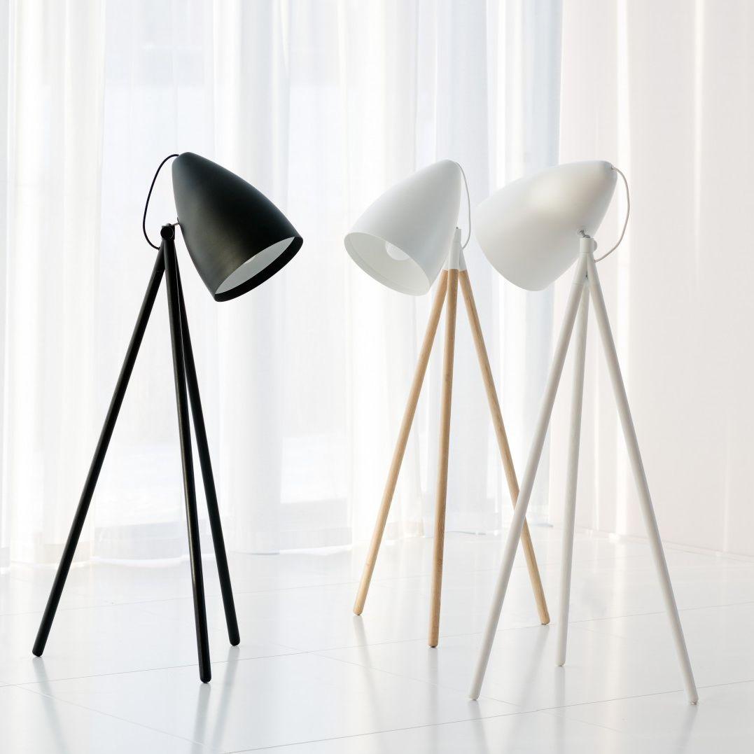 Floor-standing lamp / contemporary / ash / tripod - ORBIT by Johan ...