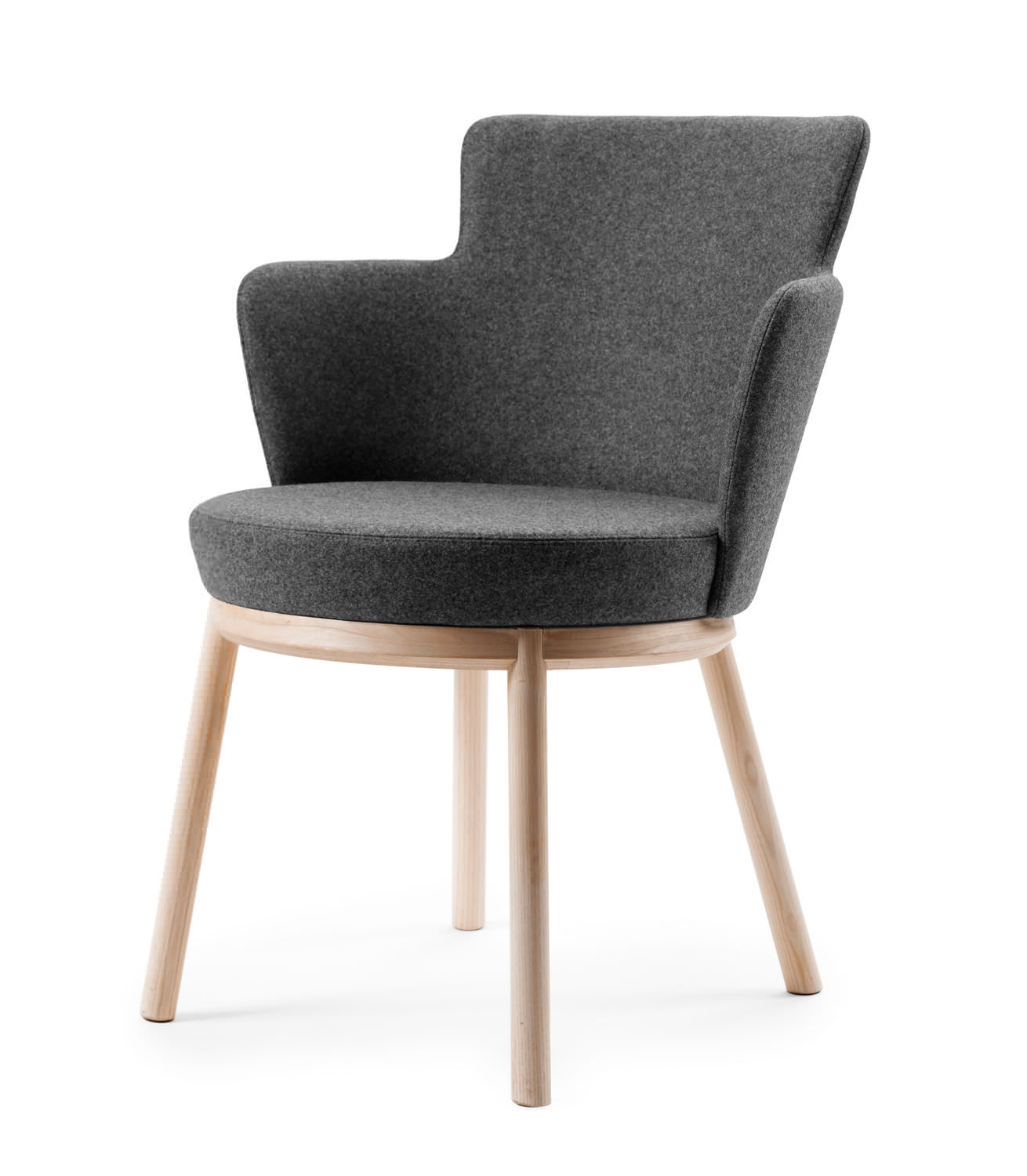 ... Contemporary Chair / Upholstered / With Armrests / Fabric