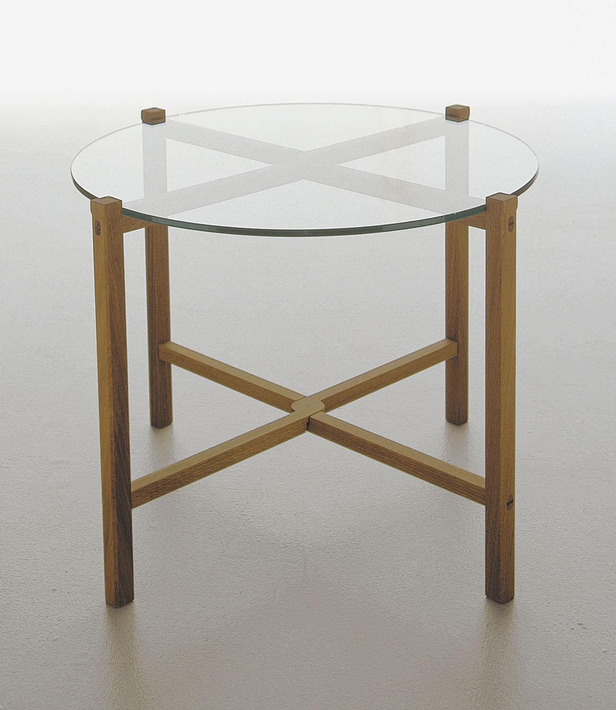 ... Contemporary Side Table / Glass / Oak / Walnut KASKAD By Christina  Fürst KARL ANDERSSON ...