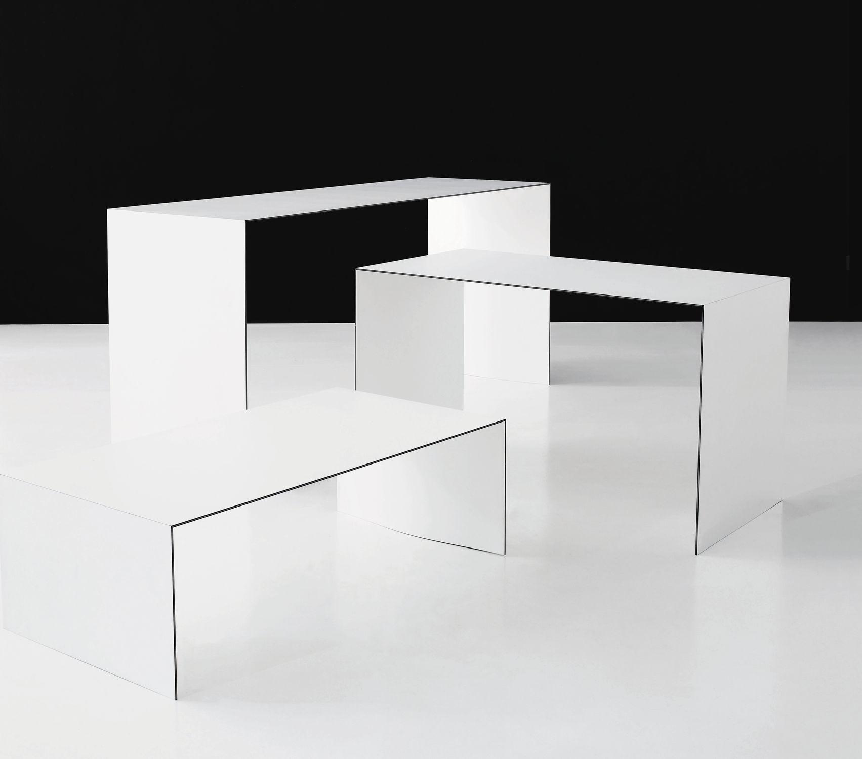 Contemporary coffee table ash laminate rectangular THINNER