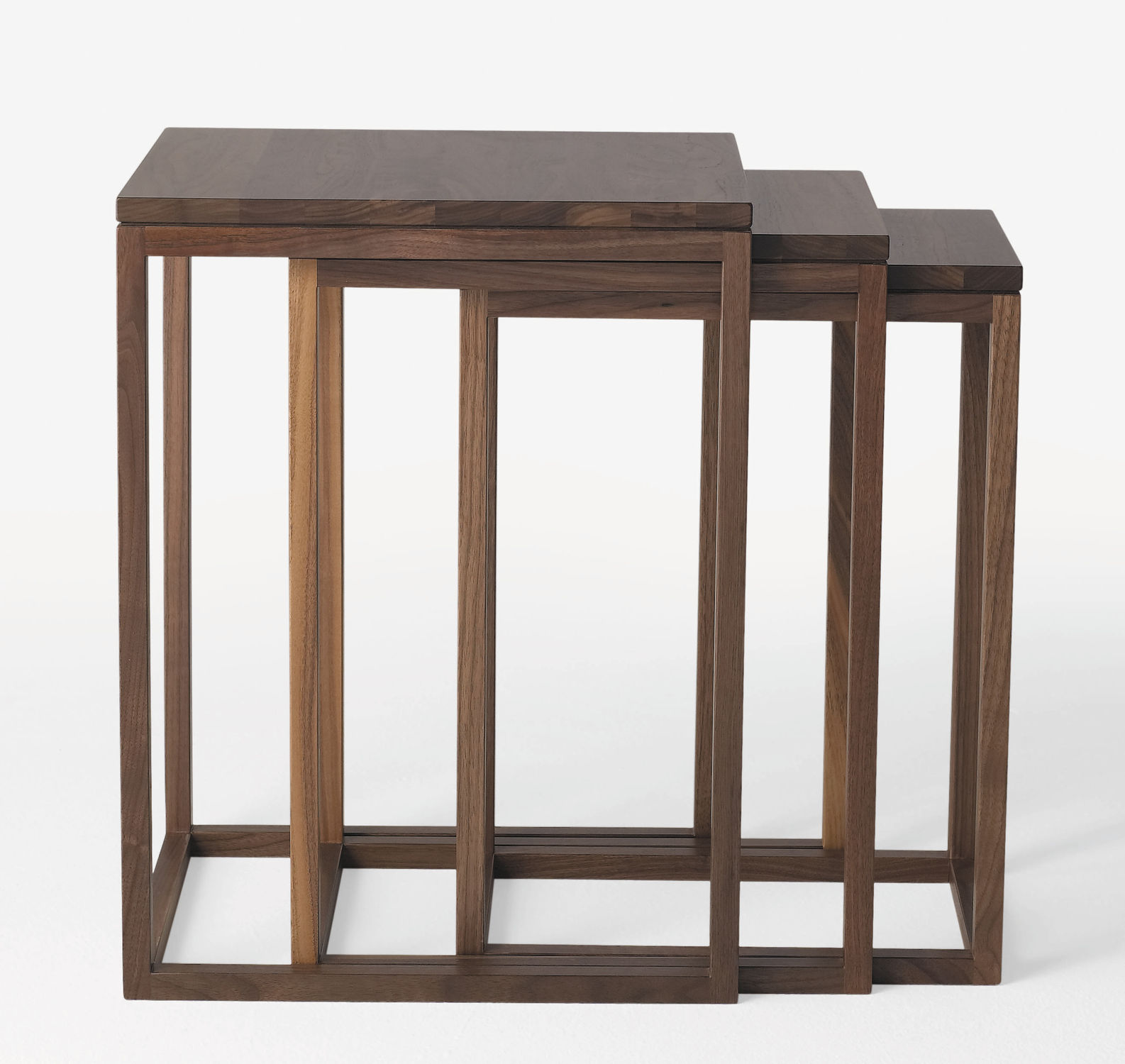 Contemporary nesting tables oak walnut beech trio by ulla contemporary nesting tables oak walnut beech watchthetrailerfo