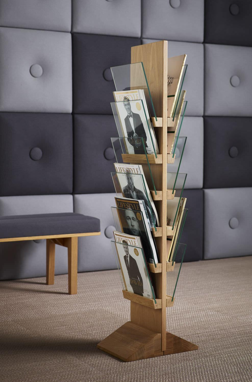 Magazine shelf / contemporary / oak / birch - FRONT by L.Pettersson ...