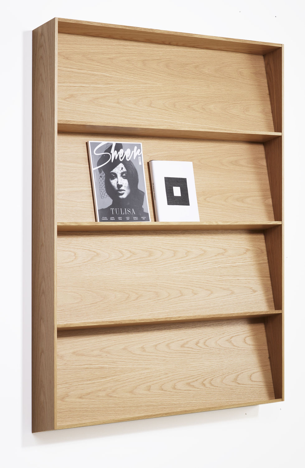 Wall mounted display rack periodicals oak slope by l wall mounted display rack periodicals oak slope by l pettersson l amipublicfo Gallery