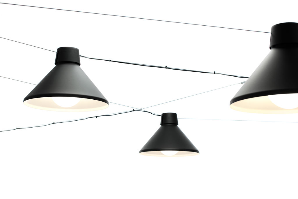 LED cable lighting / fluorescent / round / aluminum - DAIKANYAMA by ...
