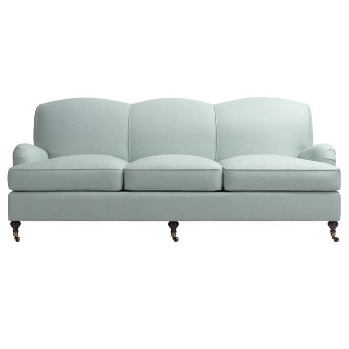 Superieur Traditional Sofa / Fabric / 3 Seater / On Casters   CHATHAM