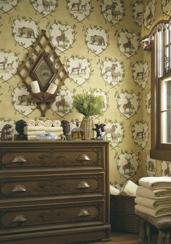Traditional Wallpaper Animal Motif Washable