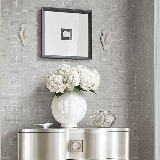 thibaut grasscloth wallpaper  Contemporary wallpaper / geometric pattern / washable - GRASSCLOTH ...