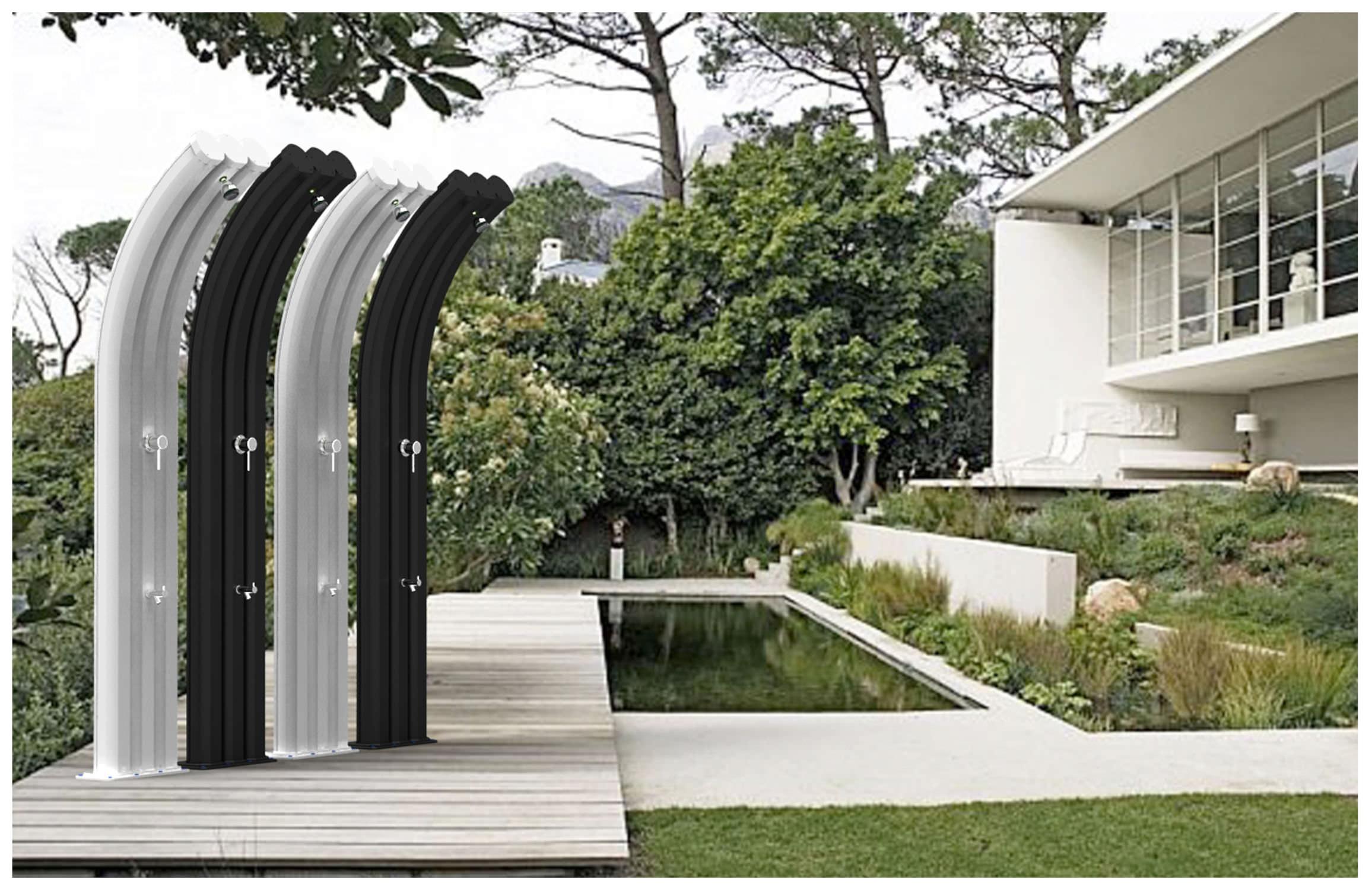 Solar garden shower aluminum ENERGY PRO Arkema Design