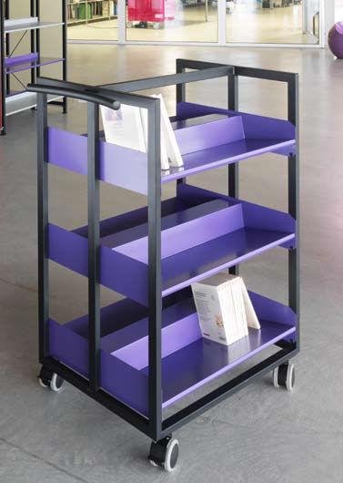 shelf on casters contemporary metal library korytem - Metal Library Bookshelves