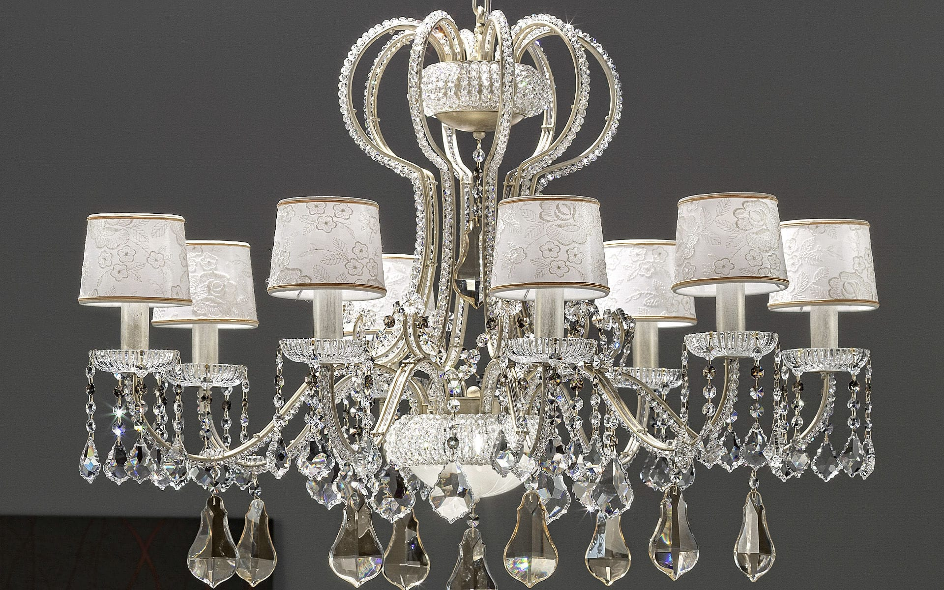 Classic chandelier crystal metal fabric GAL€ Masiero