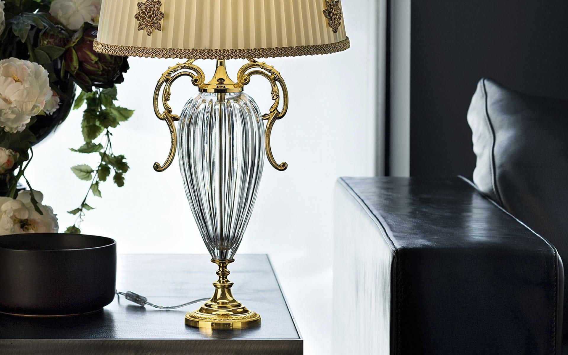 Table lamp design classic -  Table Lamp Classic Silk Crystal Primadonna Tl1p G01 Masiero