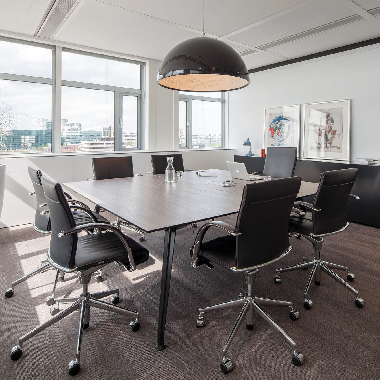 Contemporary Boardroom Table Glass Wooden Acrylic AHREND - Glass boardroom table